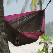 Travel hammock double fuchsia